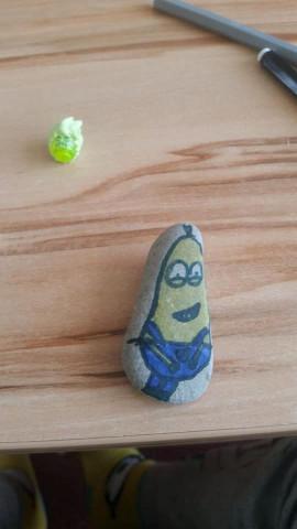 Malovaný kamínek v 5.A
