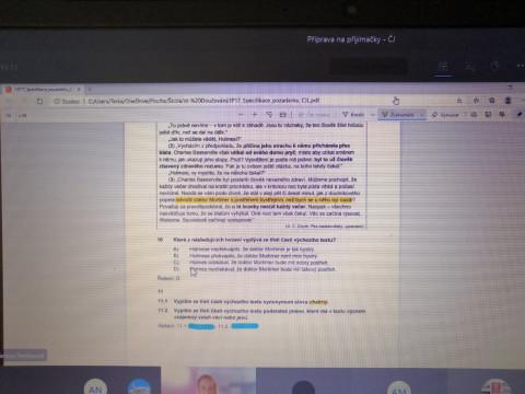 Příprava na přijímací zkoušky online