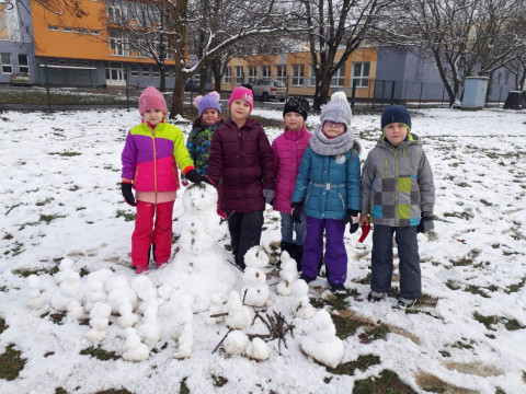 Tělocvik na sněhu - 1. D