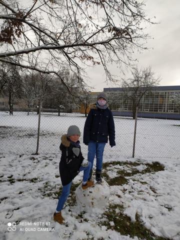 Tělocvik na sněhu