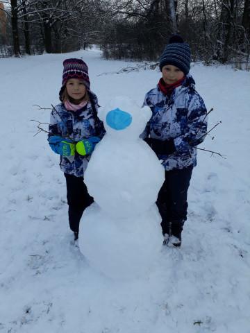 Sněhohrátky v 3. B