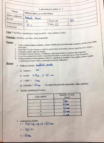 Fyzika v praxi - 6. E