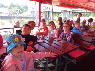 První školní výlet - plavba výletní lodí