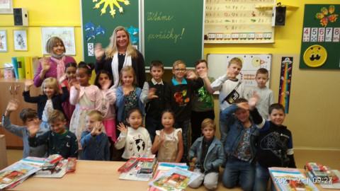 První školní den - naši prvňáčci