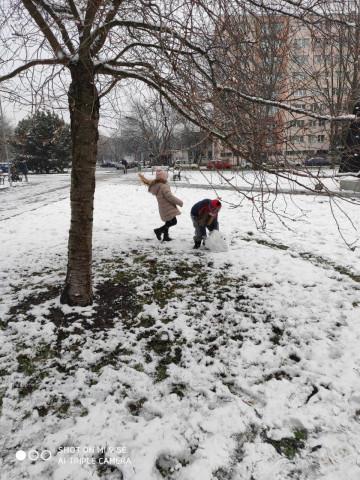 Tělocvik na sněhu - 1. C