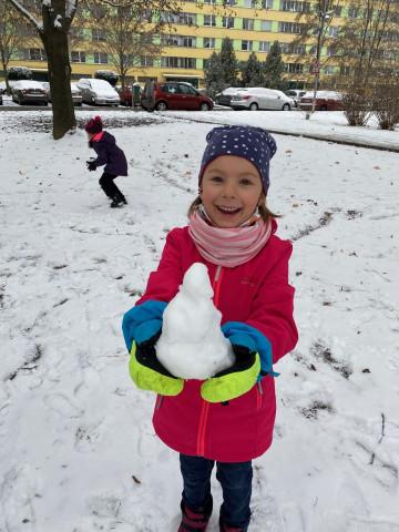 Tělocvik na sněhu !